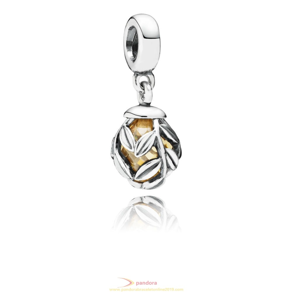 Find Pandora Jewelry Golden Laurel Leaves Pendant Charm
