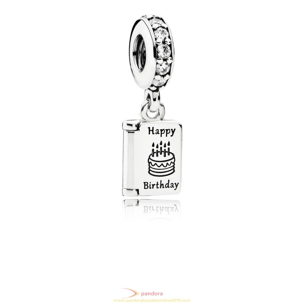 Find Pandora Jewelry Pandora Pendant Charms Birthday Wishes Pendant Charm Clear Cz