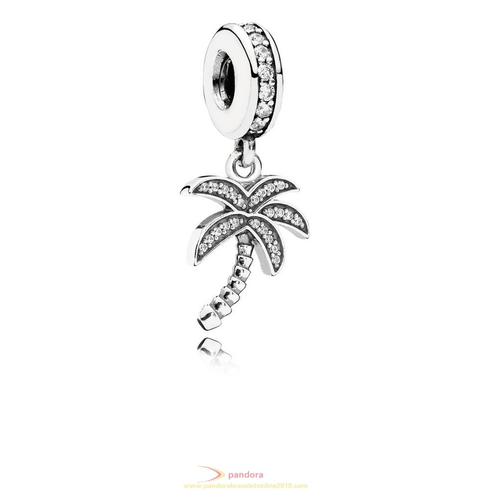Find Pandora Jewelry Pandora Pendant Charms Sparkling Palm Tree Pendant Charm Clear Cz