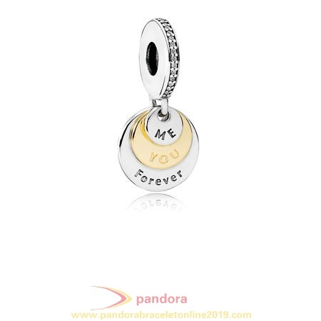 Find Pandora Jewelry Pandora Pendant Charms You Me Forever Pendant Charm Clear Cz