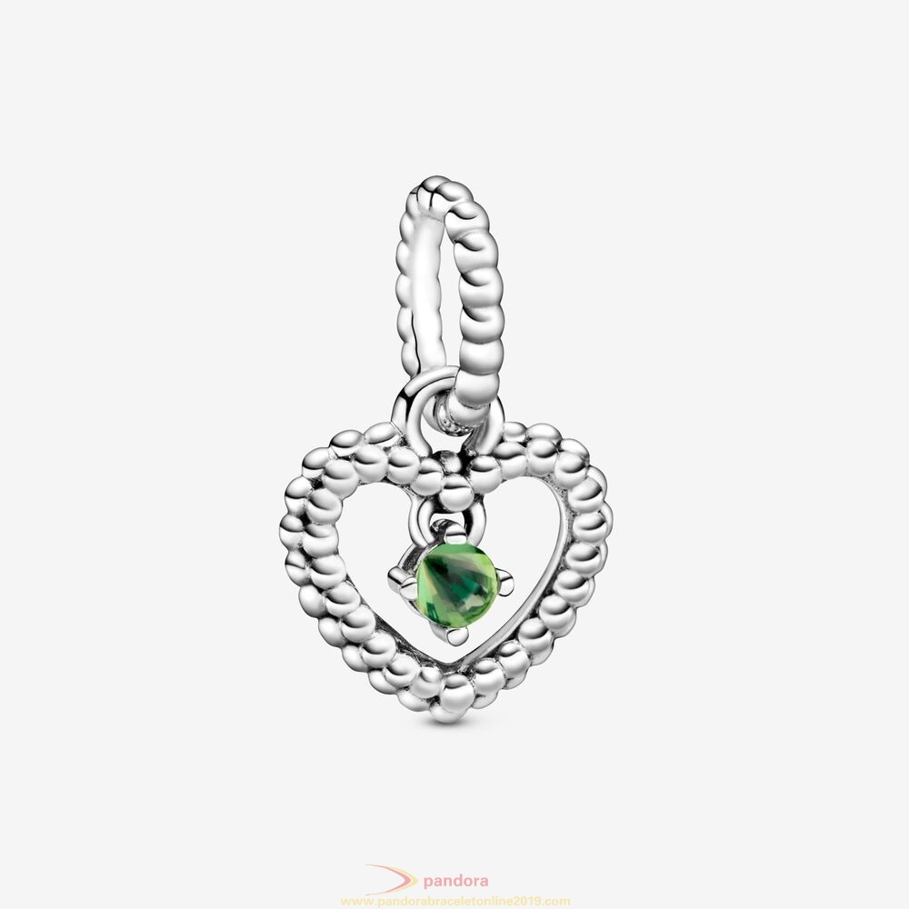 Find Pandora Jewelry Spring Green Beaded Heart Dangle Charm