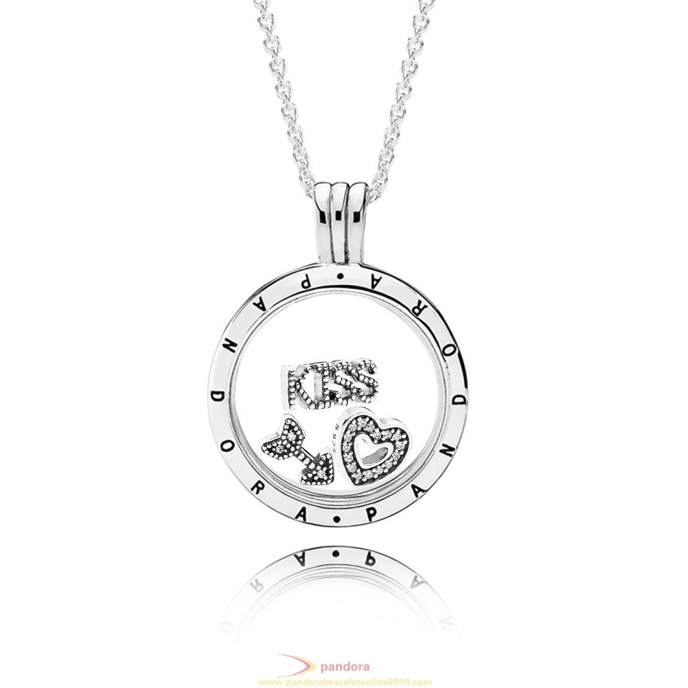 Find Pandora Jewelry Kisses For Your Heart Locket Gift Set