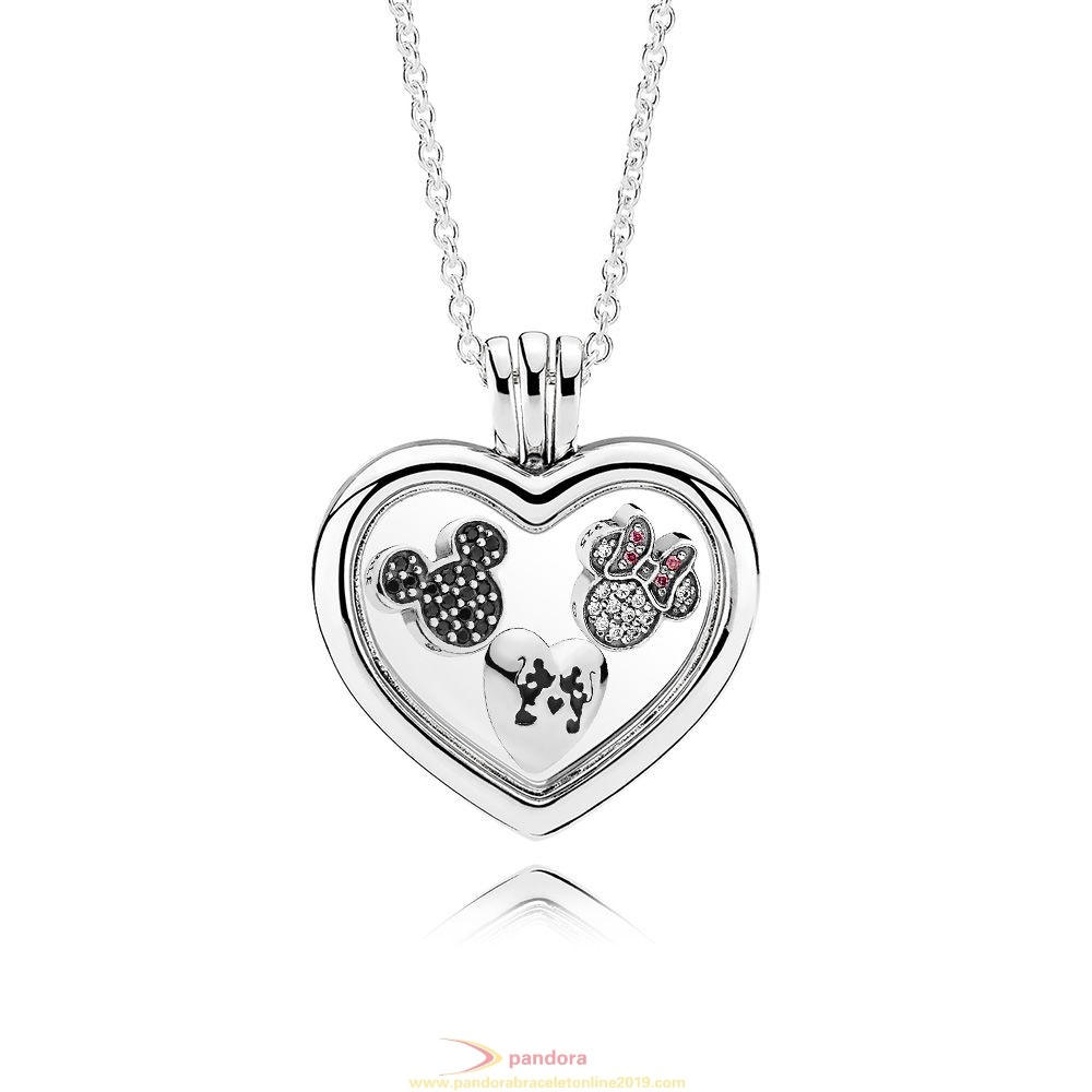 Find Pandora Jewelry Sparkling Mickey And Minnie Floating Locket Gift Set