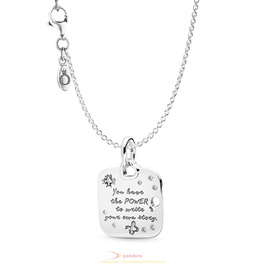 Find Pandora Jewelry Empowerment Motto Necklace Set