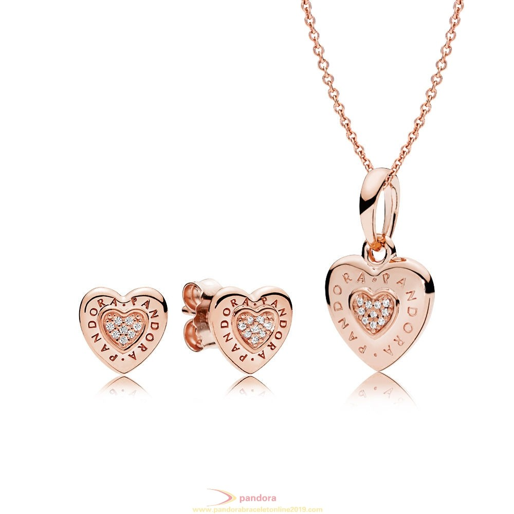 Find Pandora Jewelry Pandora Rose Logo Heart Gift Set