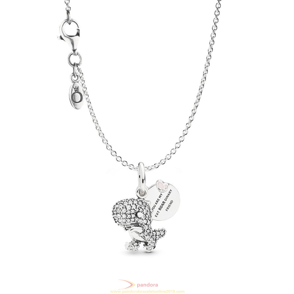 Find Pandora Jewelry Pavé Dinosaur Necklace Set
