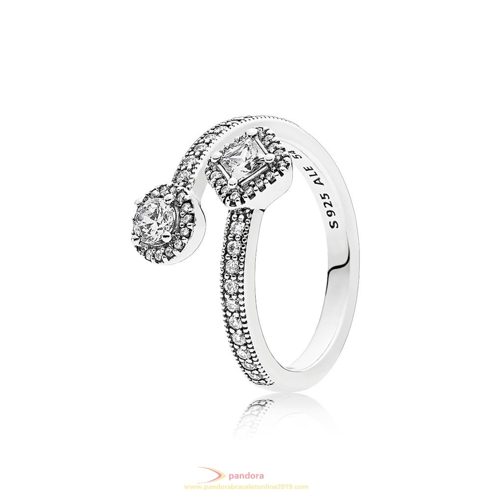 Find Pandora Jewelry Pandora Rings Abstract Elegance Ring Clear Cz