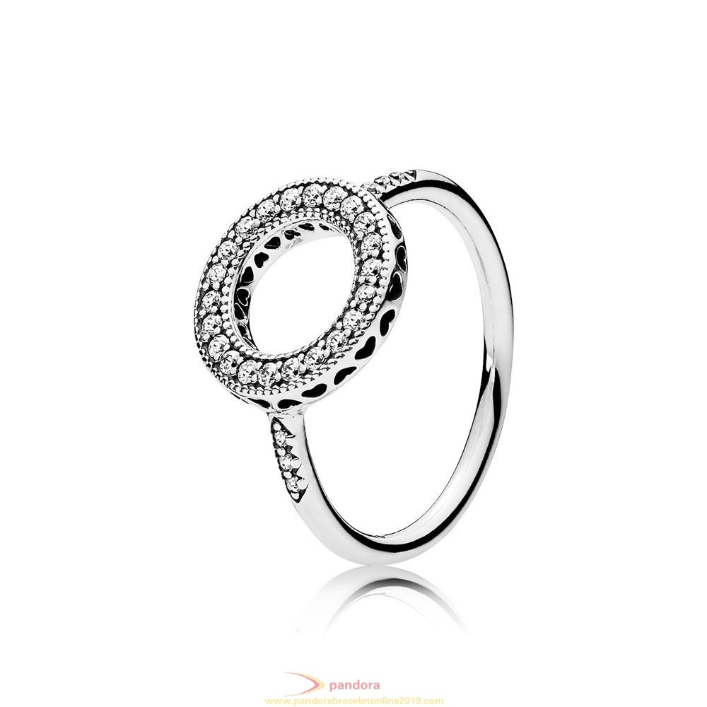 Find Pandora Jewelry Pandora Rings Hearts Of Pandora Halo Ring Clear Cz
