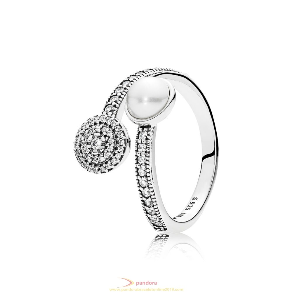 Find Pandora Jewelry Pandora Rings Luminous Glow Ring White Crystal Pearl And Clear Cz