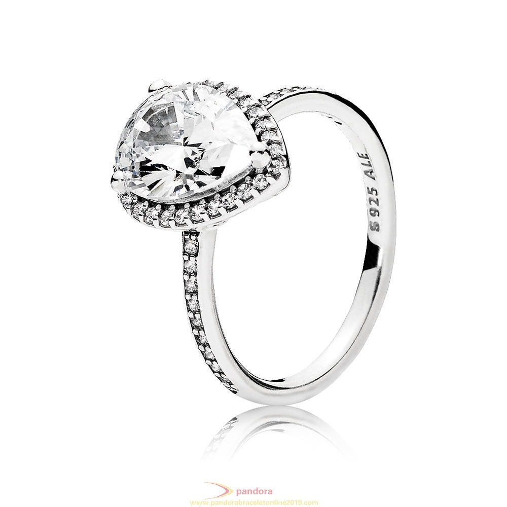 Find Pandora Jewelry Pandora Rings Radiant Teardrop Ring Clear Cz
