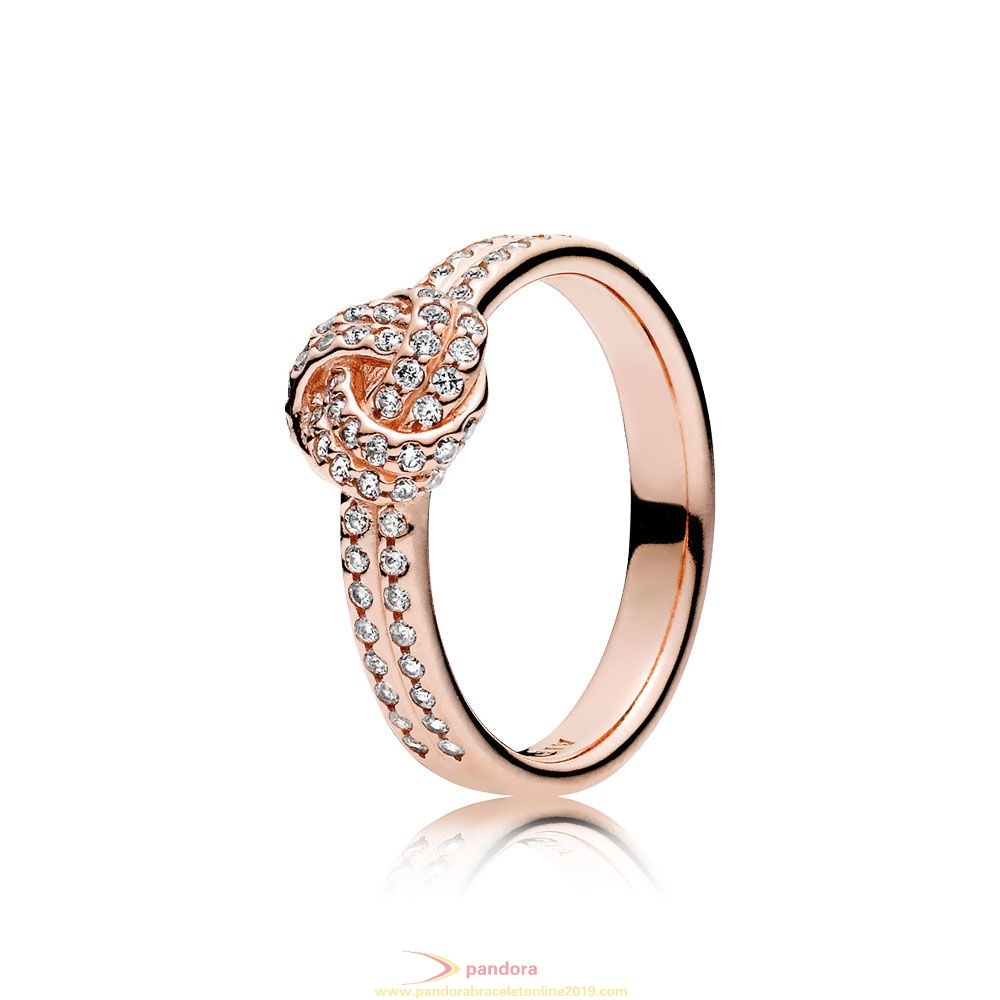 Find Pandora Jewelry Pandora Rings Sparkling Love Knot Ring Pandora Rose Clear Cz