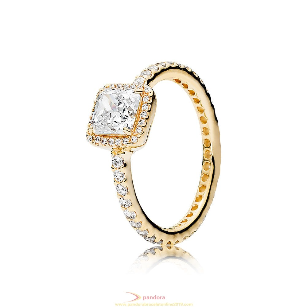 Find Pandora Jewelry Pandora Rings Timeless Elegance Ring 14K Gold Clear Cz