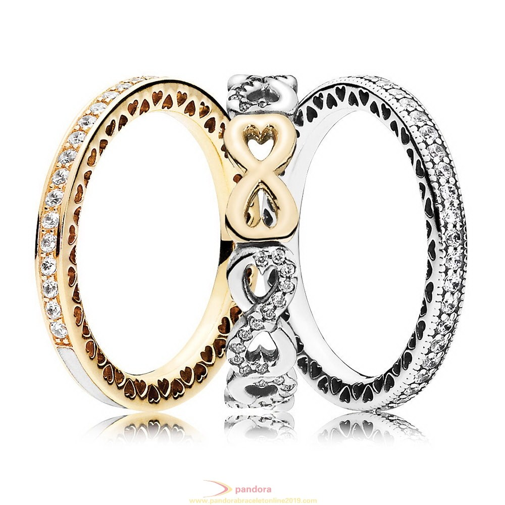 Find Pandora Jewelry Infinite Sparkle Ring Stack