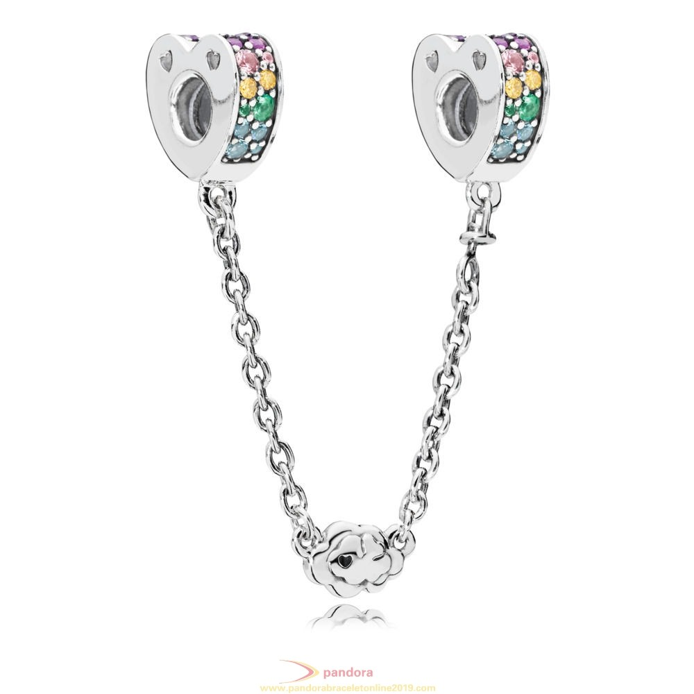 Find Pandora Jewelry Multi Colour Arcs Of Love Safety Chain