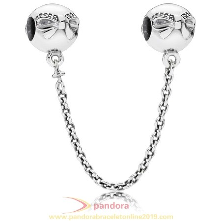 Find Pandora Jewelry Pandora Safety Chains Dainty Bow Safety Chain Clear Cz