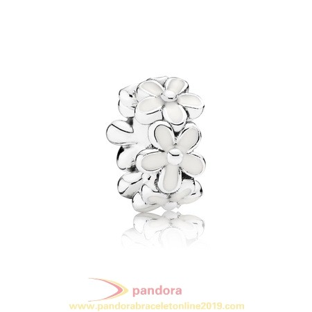Find Pandora Jewelry Pandora Spacers Charms Darling Daisies Spacer White Enamel