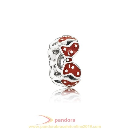 Find Pandora Jewelry Pandora Spacers Charms Disney Minnie'S Bows Spacer Red White Enamel