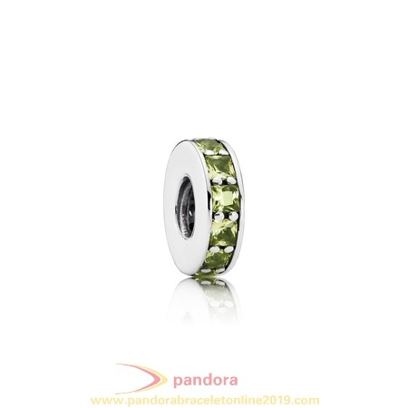 Find Pandora Jewelry Pandora Spacers Charms Eternity Spacer Olive Green Crystal