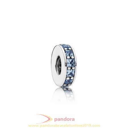 Find Pandora Jewelry Pandora Spacers Charms Eternity Spacer Sky Blue Crystal