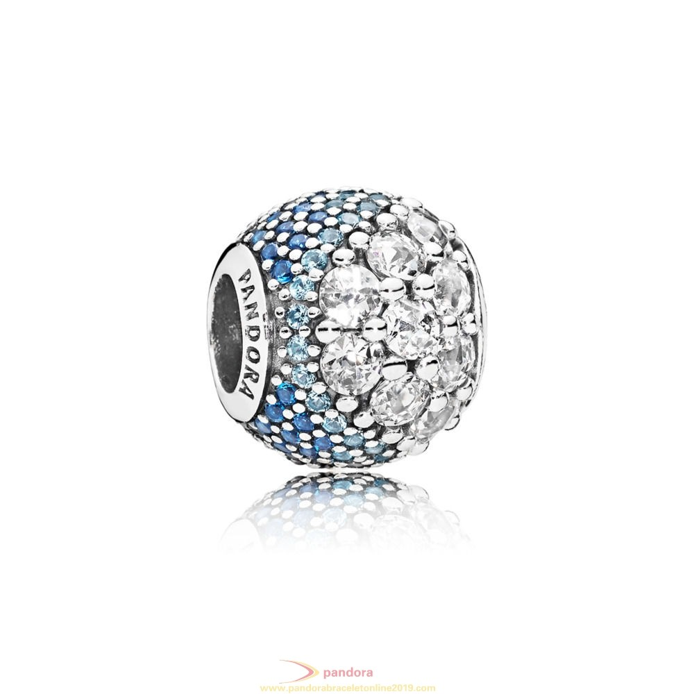 Find Pandora Jewelry Blue Enchanted Pavé Charm
