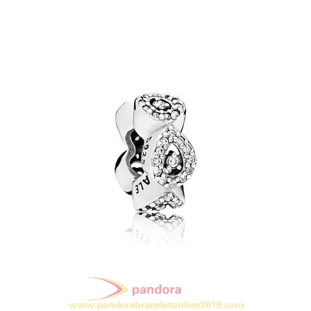 Find Pandora Jewelry Pandora Sparkling Paves Charms Cascading Glamour Spacer Clear Cz