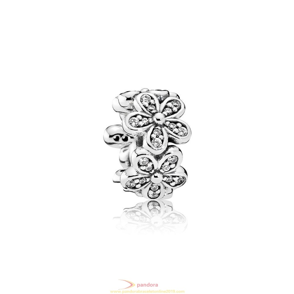 Find Pandora Jewelry Pandora Sparkling Paves Charms Dazzling Daisies Spacer Clear Cz