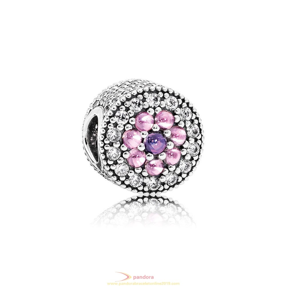 Find Pandora Jewelry Pandora Sparkling Paves Charms Dazzling Floral Charm Multi Colored Cz