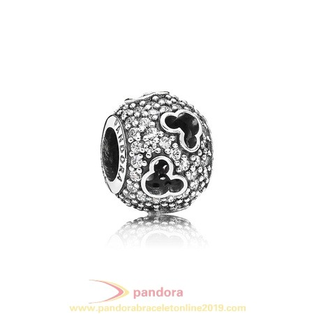 Find Pandora Jewelry Pandora Sparkling Paves Charms Disney Mickey Silhouettes Charm Clear Cz