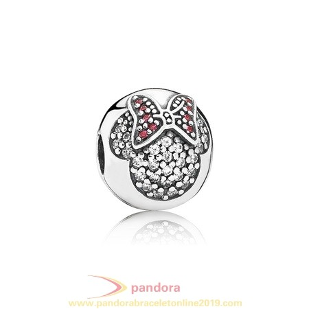 Find Pandora Jewelry Pandora Sparkling Paves Charms Disney Minnie Pave Clip