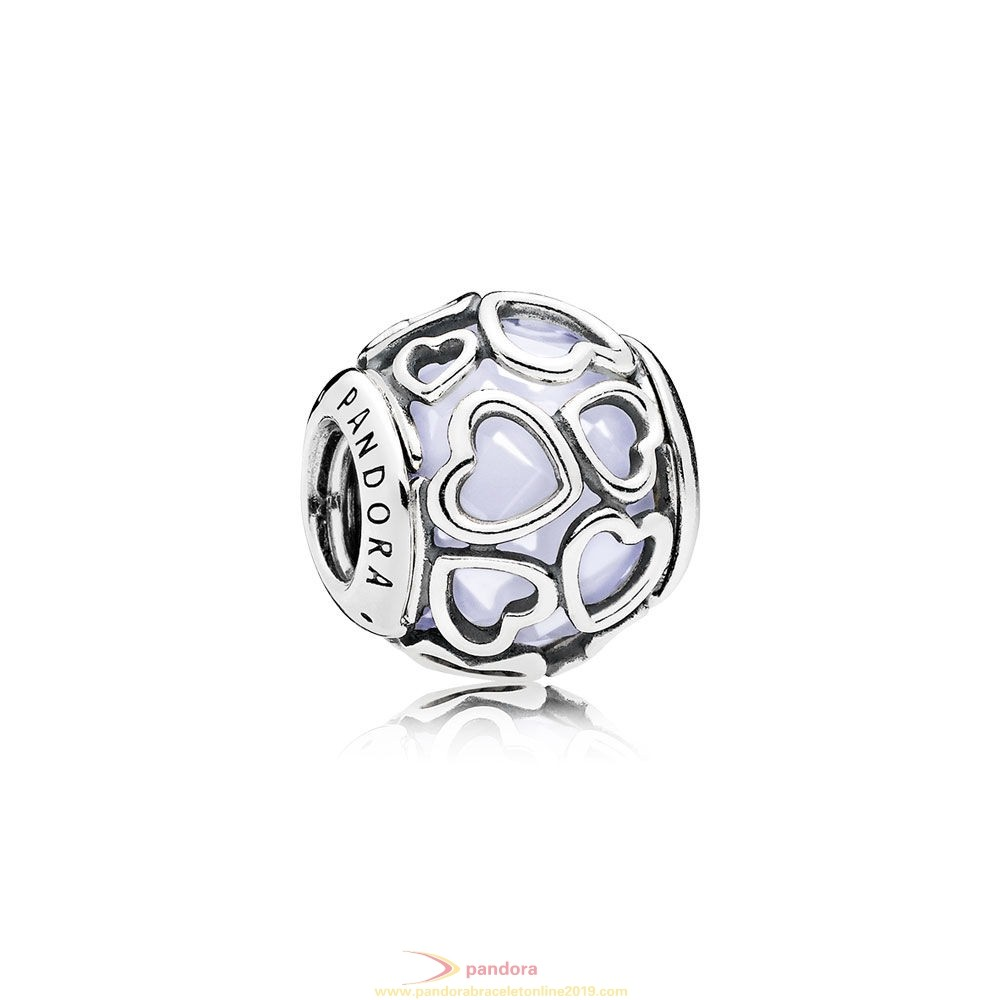 Find Pandora Jewelry Pandora Sparkling Paves Charms Encased In Love Charm Opalescent White Crystal