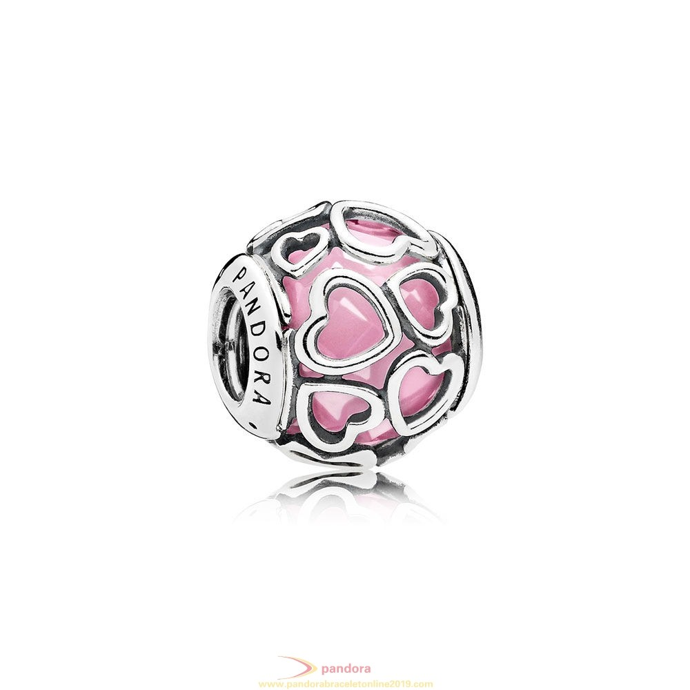 Find Pandora Jewelry Pandora Sparkling Paves Charms Encased In Love Charm Pink Cz