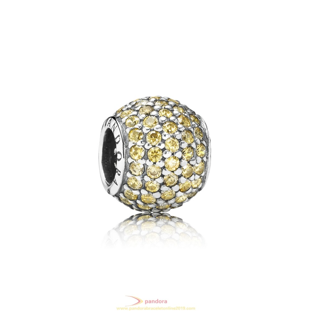 Find Pandora Jewelry Pandora Sparkling Paves Charms Pave Lights Charm Fancy Golden Colored Cz