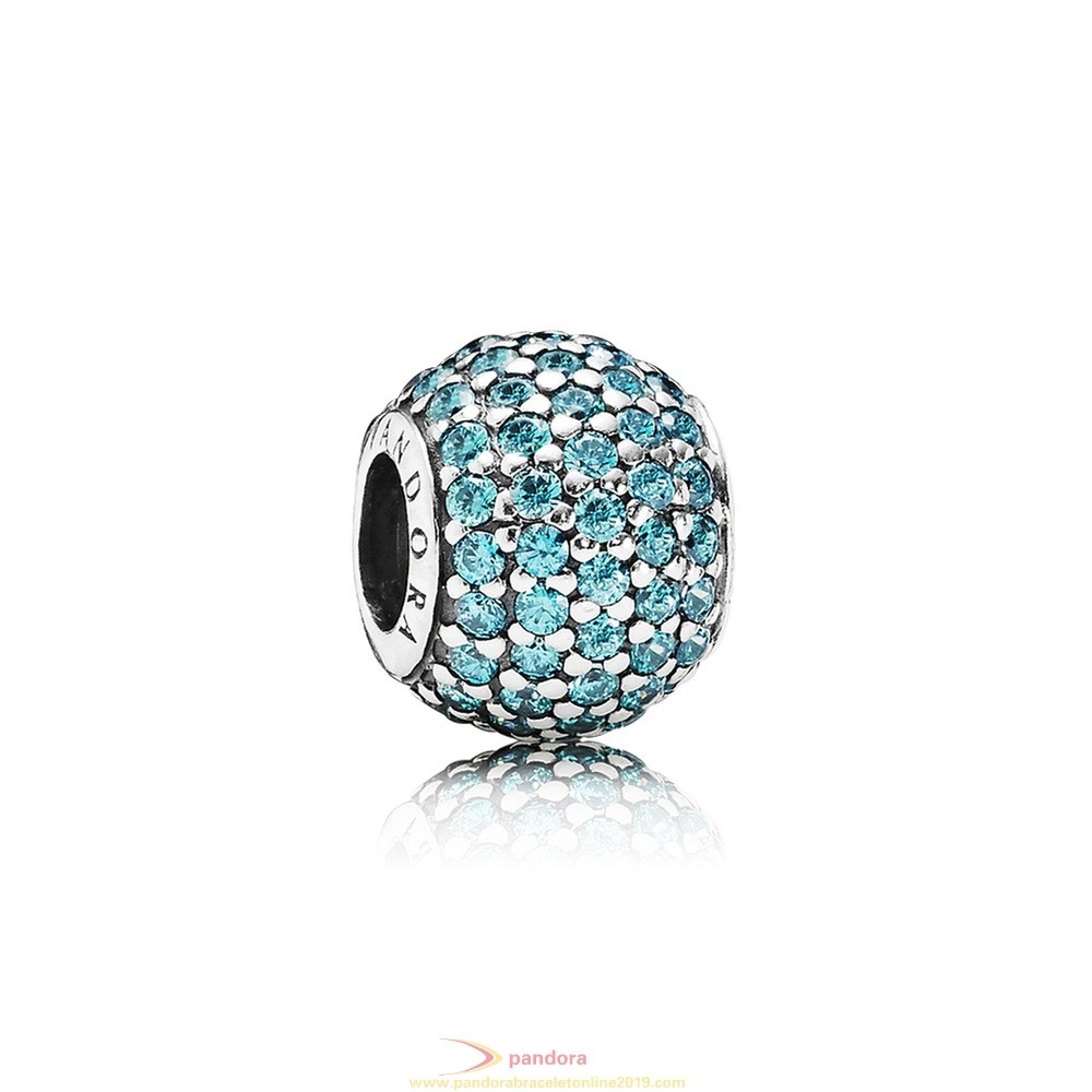 Find Pandora Jewelry Pandora Sparkling Paves Charms Pave Lights Charm Teal Cz