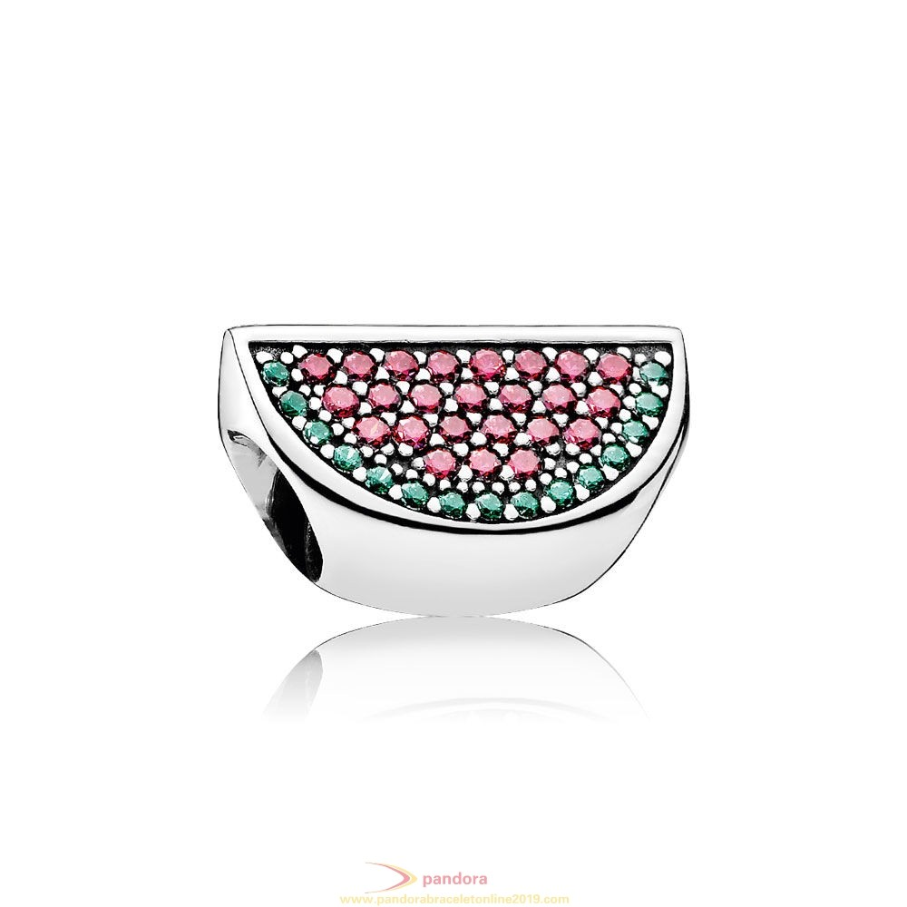 Find Pandora Jewelry Pandora Sparkling Paves Charms Pave Watermelon Charm Red Green Cz