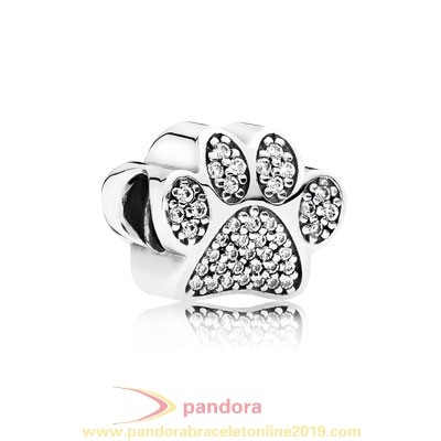 Find Pandora Jewelry Pandora Sparkling Paves Charms Paw Prints Clear Cz