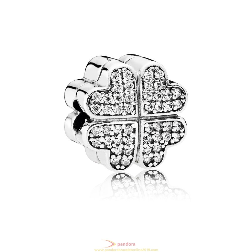Find Pandora Jewelry Pandora Sparkling Paves Charms Petals Of Love Clear Cz
