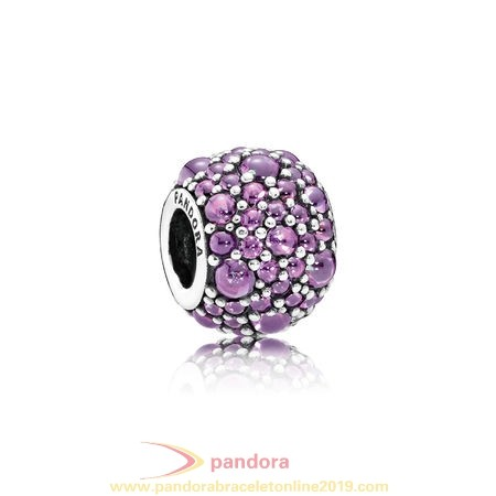 Find Pandora Jewelry Pandora Sparkling Paves Charms Shimmering Droplets Charm Fancy Purple Cz