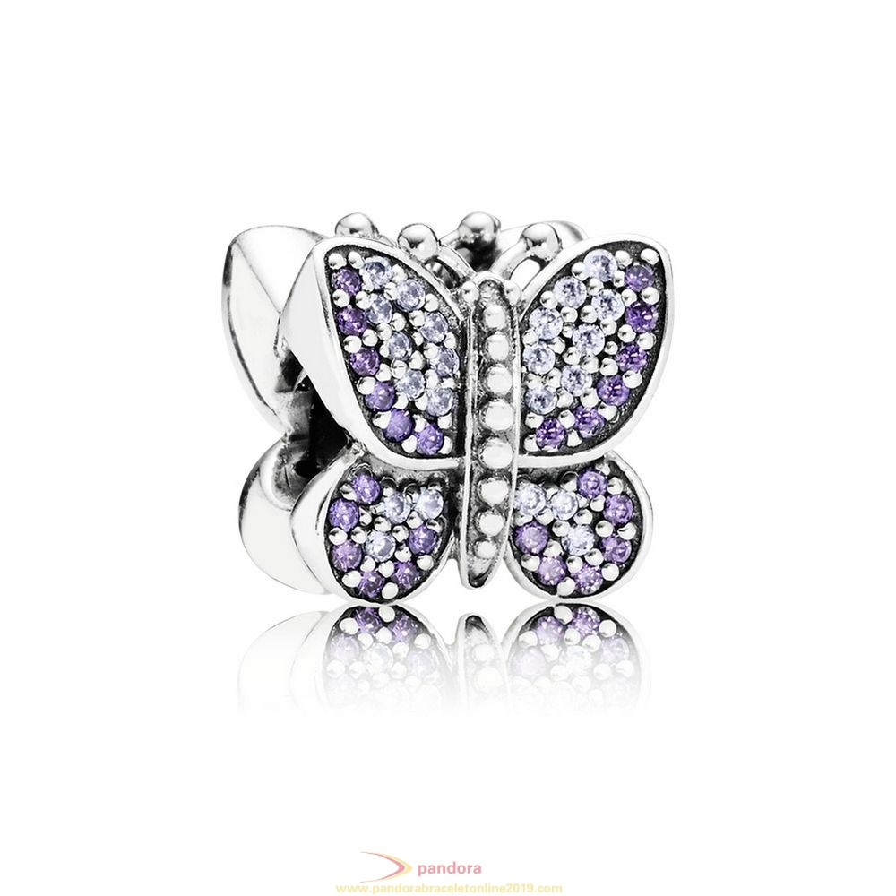 Find Pandora Jewelry Pandora Sparkling Paves Charms Sparkling Butterfly Charm Purple Cz