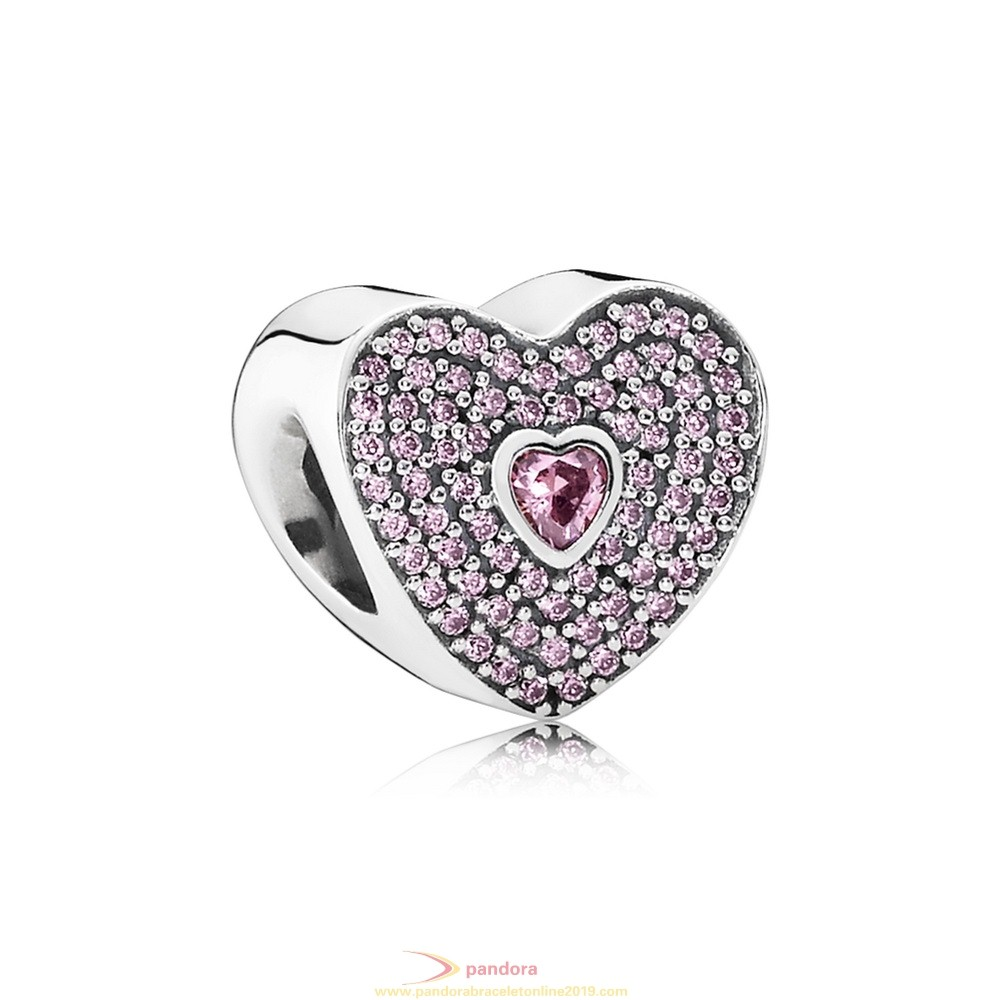 Find Pandora Jewelry Pandora Sparkling Paves Charms Sweetheart Charm Fancy Pink Cz