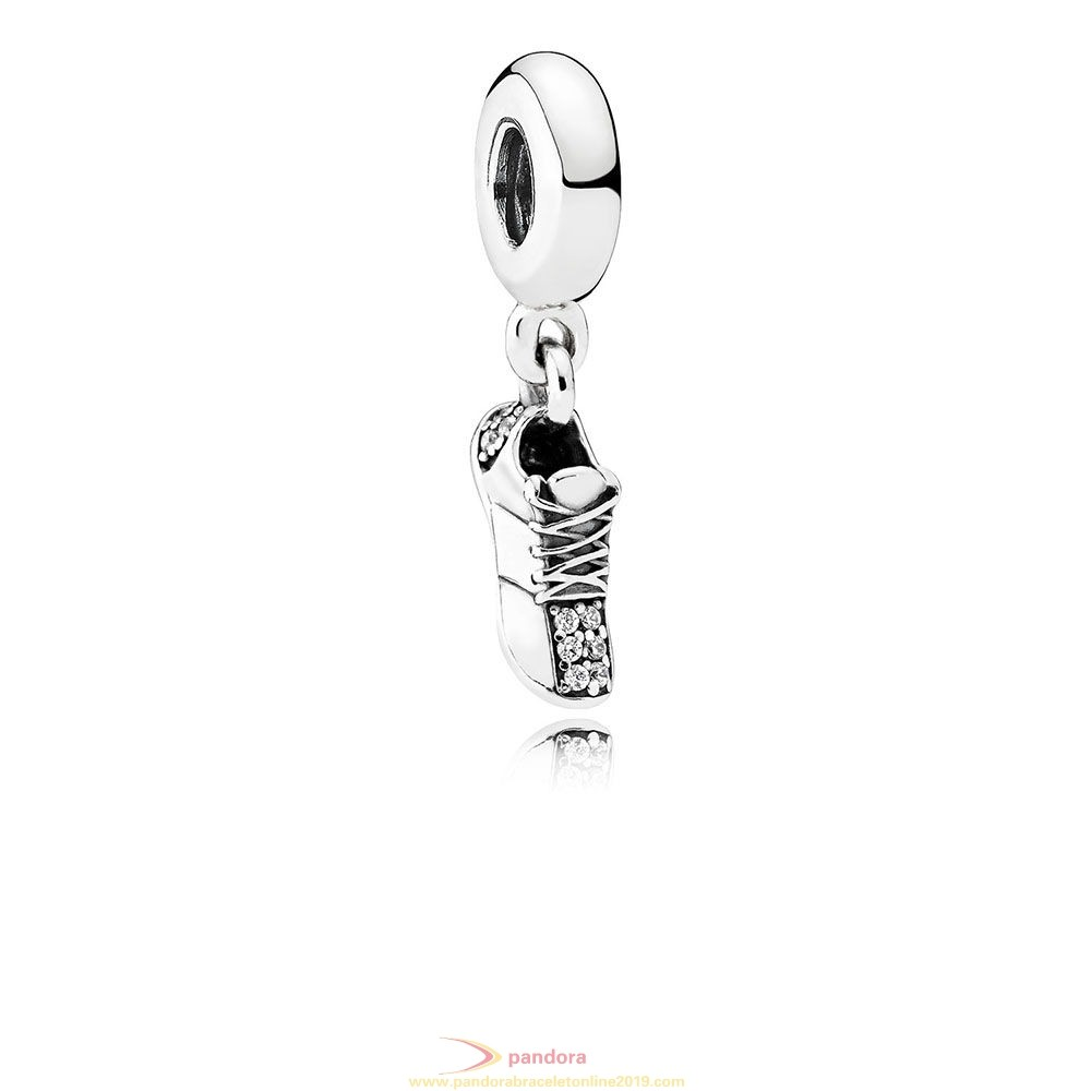 Find Pandora Jewelry Pandora Passions Charms Sports Recreation Running Shoe Pendant Charm Clear Cz