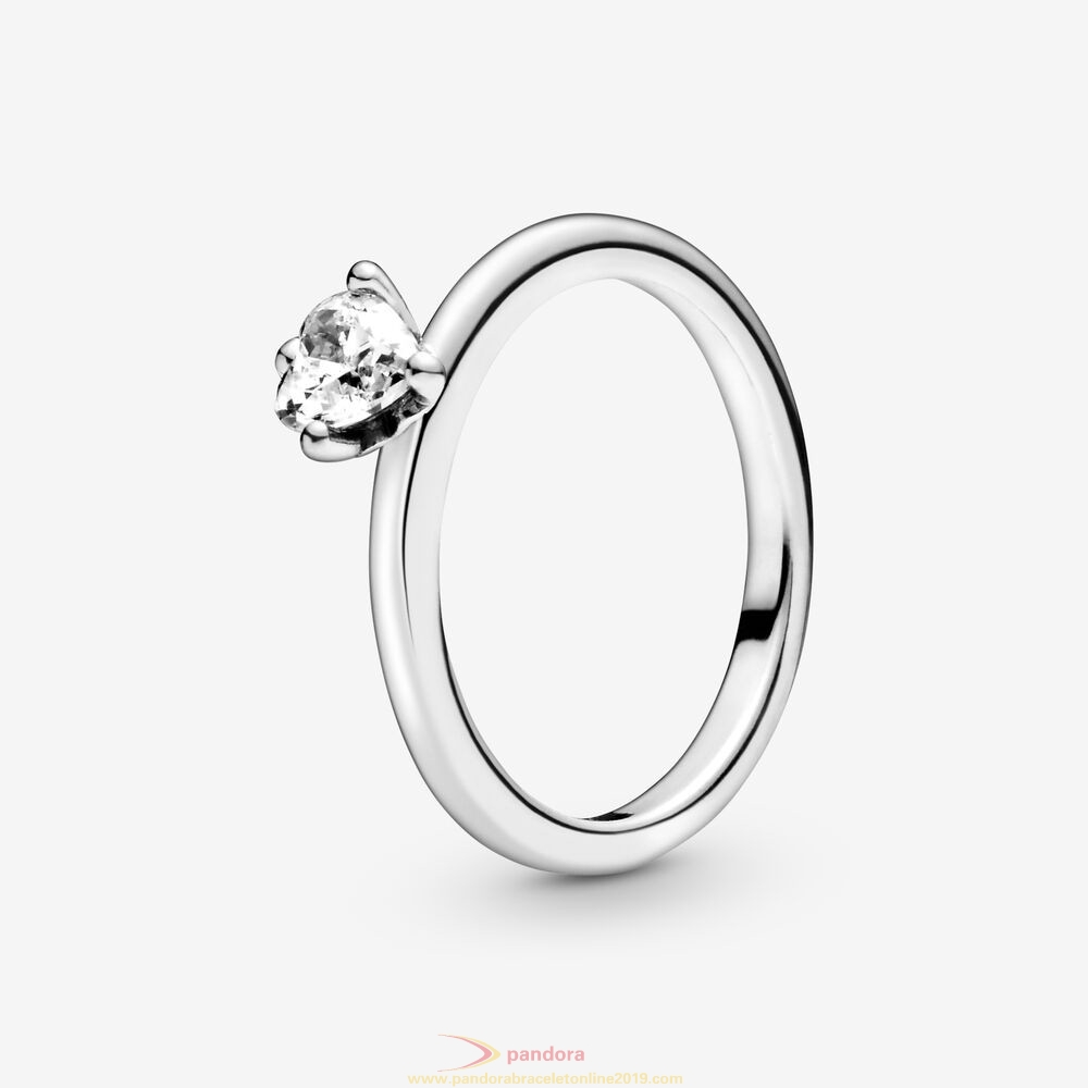 Find Pandora Jewelry Colorless Heart Solitaire Rings