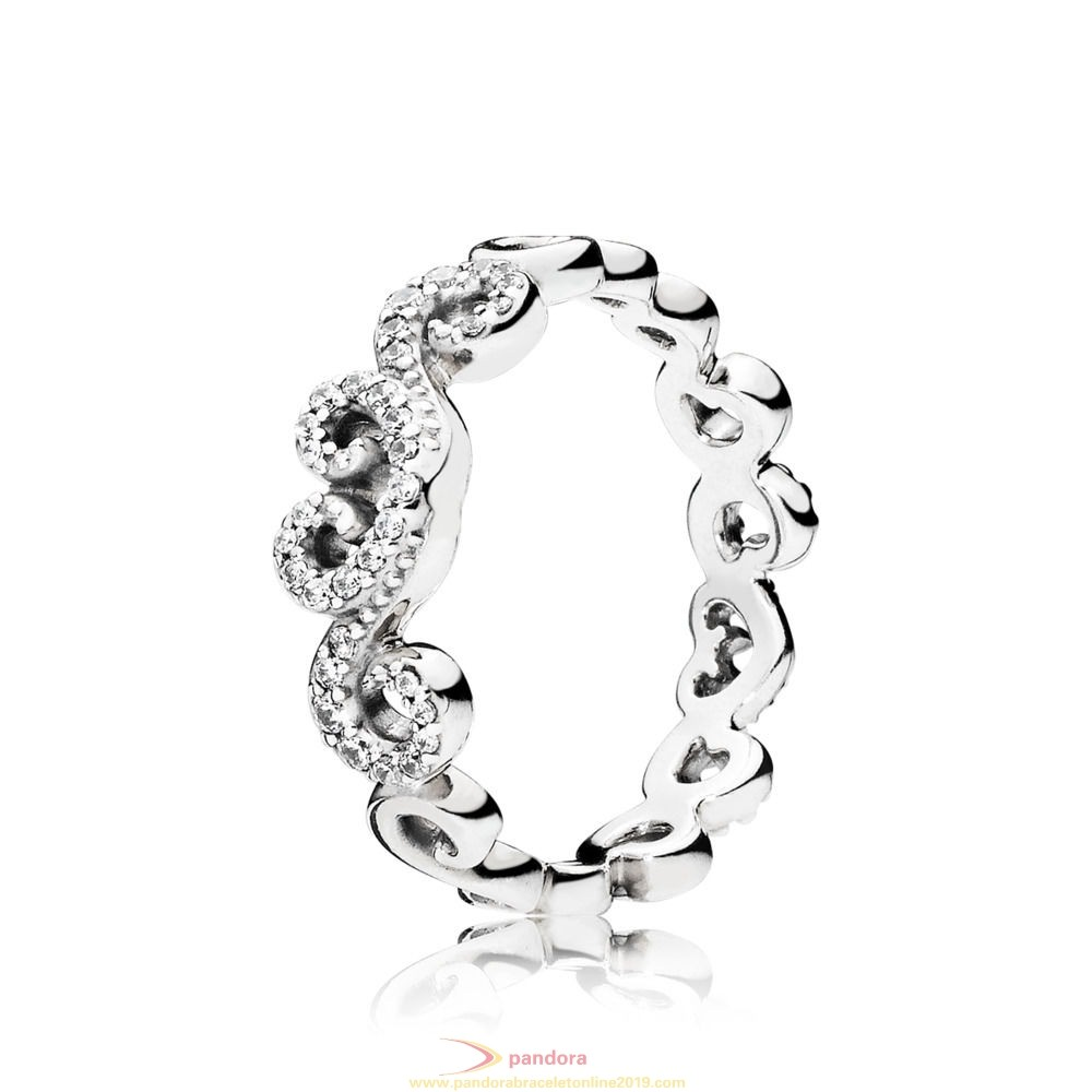 Find Pandora Jewelry Heart Swirls Ring