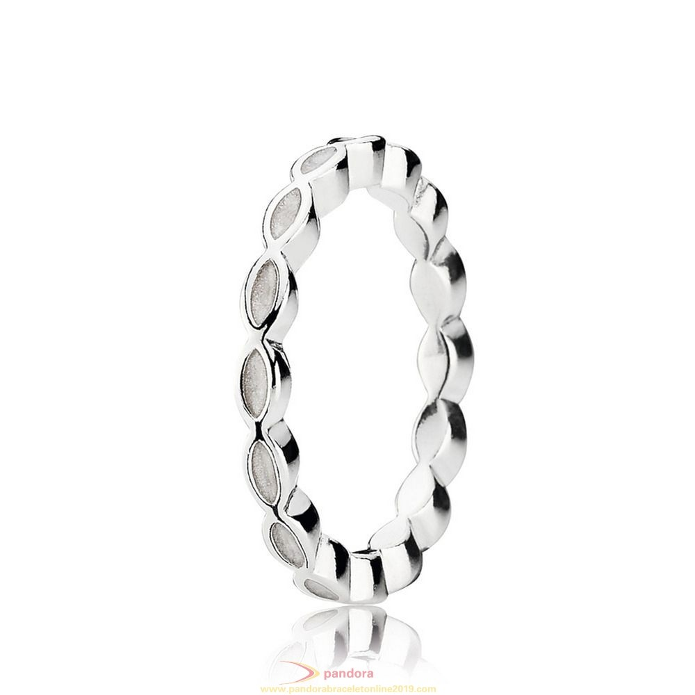 Find Pandora Jewelry Pandora Rings Better Together Stackable Ring White Enamel