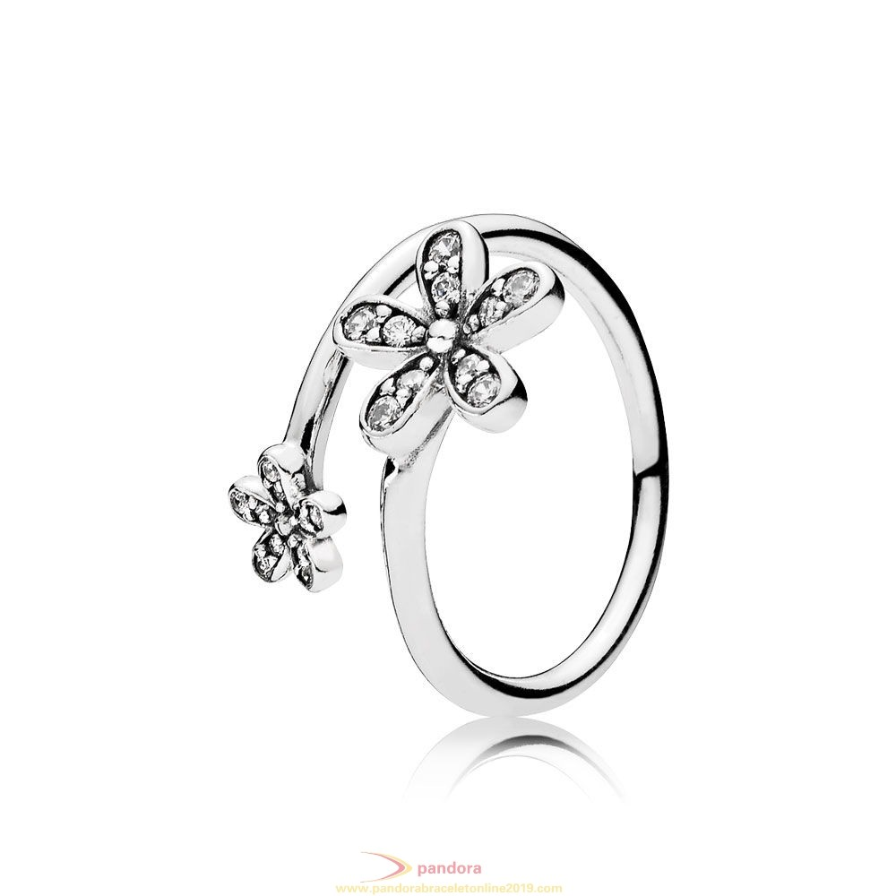 Find Pandora Jewelry Pandora Rings Dazzling Daisies Ring Clear Cz
