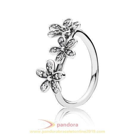 Find Pandora Jewelry Pandora Rings Dazzling Daisies Stackable Ring Clear Cz