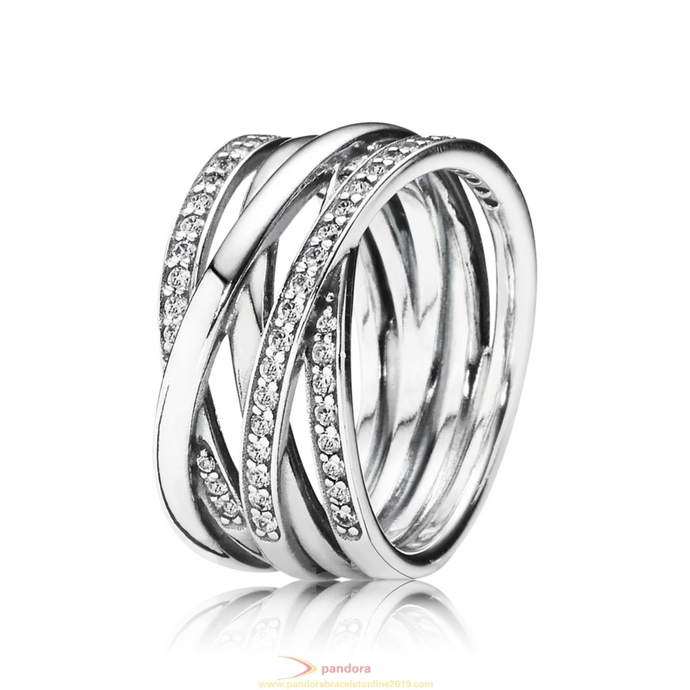 Find Pandora Jewelry Pandora Rings Entwined Ring Clear Cz