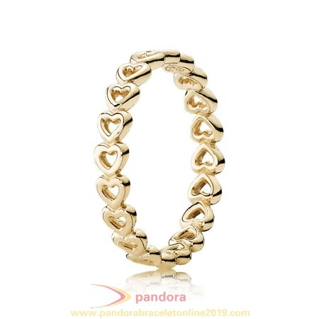 Find Pandora Jewelry Pandora Rings Linked Love Ring 14K Yellow Gold