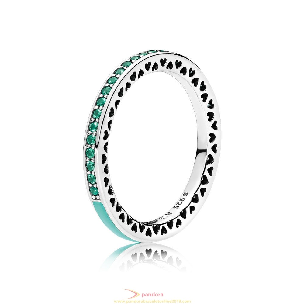 Find Pandora Jewelry Pandora Rings Radiant Hearts Of Pandora Ring Bright Mint Enamel Royal
