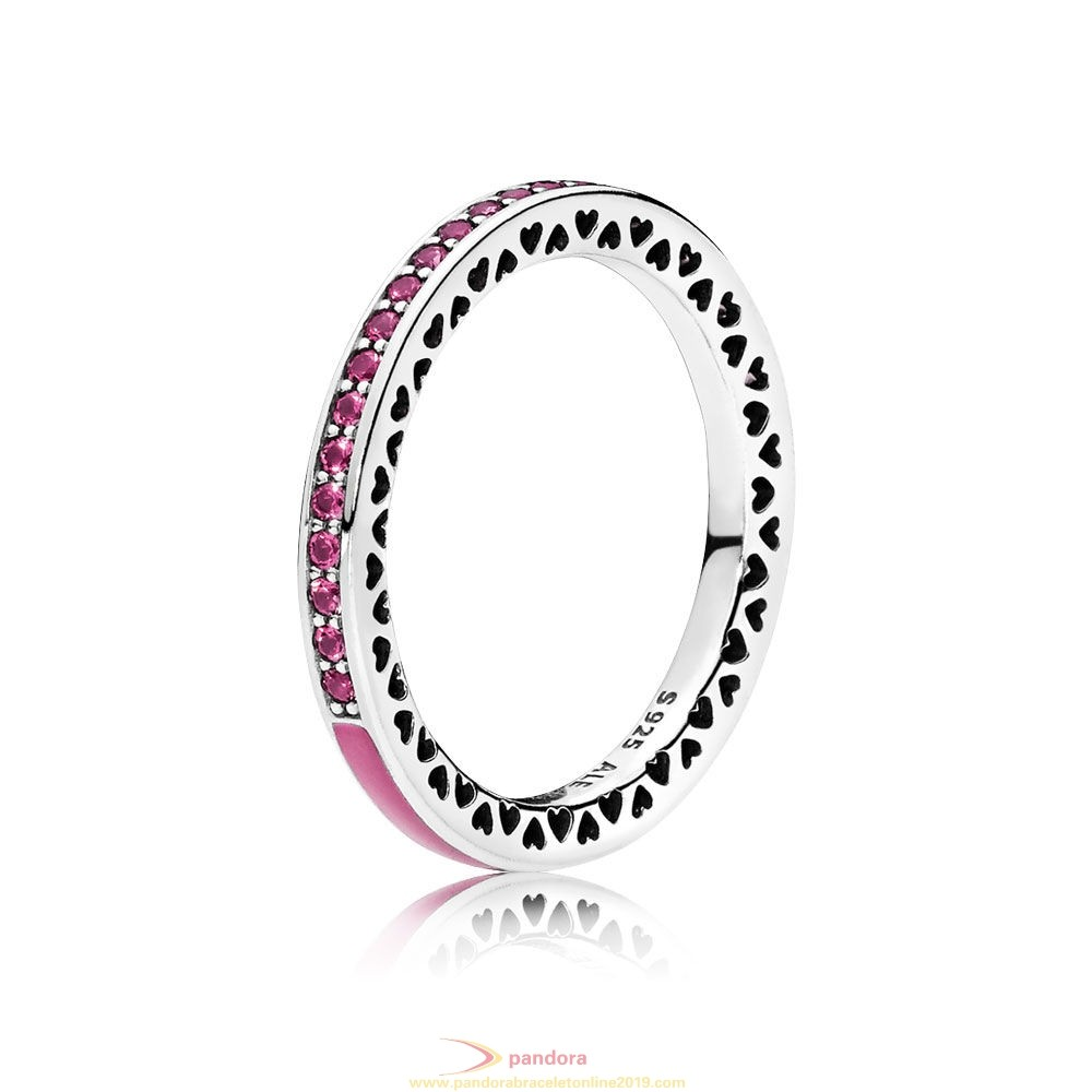 Find Pandora Jewelry Pandora Rings Radiant Hearts Of Pandora Ring Radiant Orchid Enamel Cerise