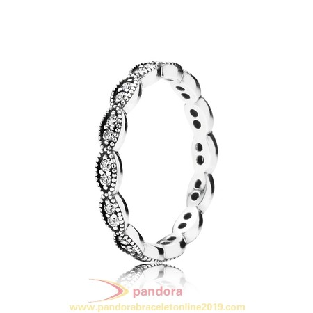 Find Pandora Jewelry Pandora Rings Sparkling Leaves Stackable Ring Clear Cz